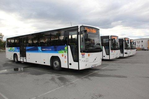 ENDRER BUSSRUTER: Nattevandringen påvirker også busstrafikken i Tromsø i kveld.