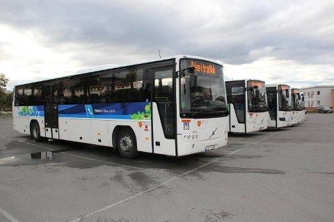 BITENDE KALDT: Da det virkelig ble kaldt i Indre Troms fikk de nye bussene til Tide problemer. Bildet viser ikke de aktuelle bussene. Illustrasjonsfoto.
