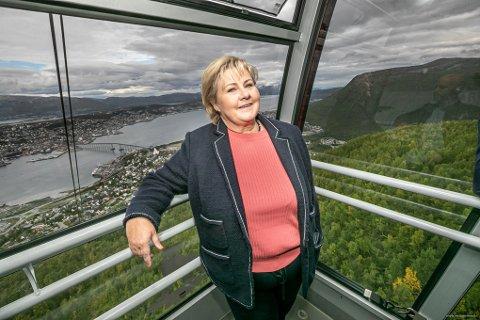 I TROMSØ: Erna Solberg var i Tromsø i september.