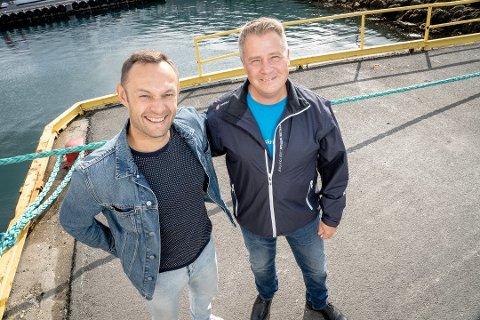 SAMMEN FOR TOG: Torgeir Knag Fylkesnes fra SV og Per-Willy Amundsen fra Frp har funnet sammen, og skal kjempe for å få jernbane lengre opp i Nord-Norge.