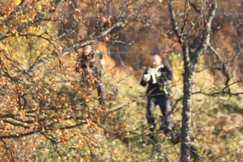PÅGREPET: I et turområde like over Reinen skole ble det politiet mener er ransmannen pågrepet.