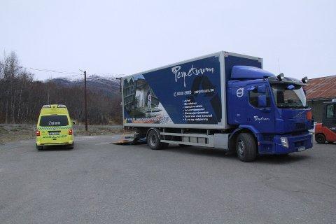 ULYKKE: En person er sendt til UNN i Tromsø etter en arbeidsulykke i Salangen torsdag ettermiddag.