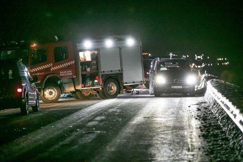 DØDSULYKKE: Et vogntog og en personbil kolliderte på E8 i Balsfjord 27. januar. En 19 år gammel mann omkom.