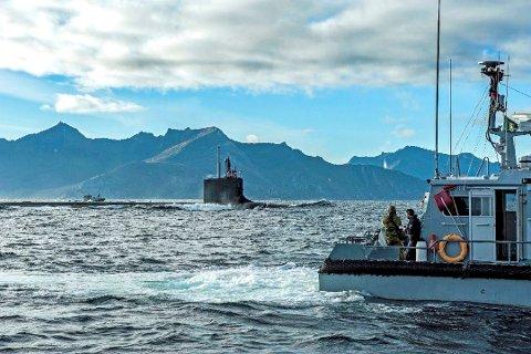 UBÅT-BESØK:  I oktober 2016 dukket denne amerikanske atomubåten opp ved Hekkingen.
