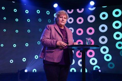 LEIT: Erna Solberg synes at det er leit at Geir Inge Sivertsen trekker seg som fiskeriminister. Samtidig har hun forståelse for valget, sier hun.