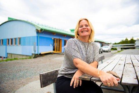 LETTET: Rektor Tonje Hofsøy gleder seg til åpne ny skole på Bymyra til høsten.