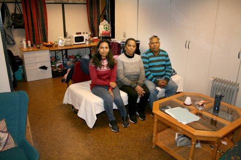 KIRKEASYL: På dette rommet i Finnsnes kirke har Dilani Johnson Collin og hennes foreldre bodd i fem og et halvt år.
