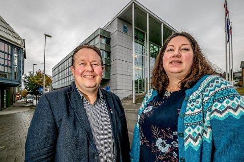 STØTTER: Jarle Heitmann og Tone Marie Myklevoll vil stemme for å oppheve kommunestyrevedtaket om Arctic Center.