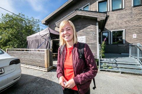 RUTINERT: Mette Nilsen føler seg frisk, men skal likevel testes før hun får starte i jobb på helsehuset.