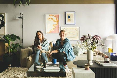 INTERIØR: I Grønnegata 32 i Tromsø sentrum har (F.h) Henriette Amlie og Veronica Linea Mortensen åpnet opp dørene til interiør-studioet Evoke.