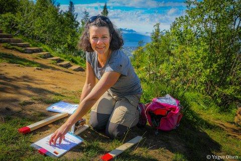 BER OM RÅD: Friluftsrådgiver Margrethe Rabås og Tromsø kommune ønsker innspill fra turfolket i Tromsø.
