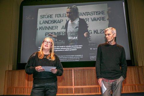BLIR HELDIGITAL: Festival- og programsjef Lisa Hoen og assisterende programsjef Henning Rosenlund, har fra programlanseringen tidligere i år. Nå har festivalen valgt å gå heldigital, for å respektere smittevernsanbeflingene til regjeringen. De forsøker nå å lage en knall digitalfestival - og ser frem mot forhåpentligvis normale tider i 2022.