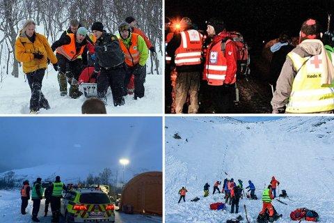 SKRED: Skred i fjellområdene ved Kattfjordeidet: Langfjellaksla (2013), Durmålstinden (2010), Middagstinden (2012) og Skittentind (2021). De tre første krevde menneskeliv.