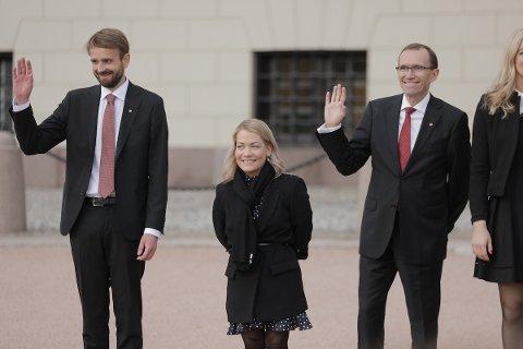 PÅ SLOTTSPLASSEN: Sandra Borch etter første statsråd.