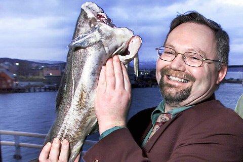 EVENTYR: Steinar Eliassen presenterte «verdens første oppdrettstorsk» i Tromsø i 1998. Tolv år seinere var det snipp, snapp snute.