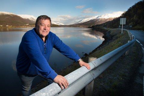 GRUNDER: Jonny Sørensen er blant grunderne av Norsk Miljøkraft som står bak Sandhaugen Vindkraftverk. Foto: Ole Åsheim Nordlys