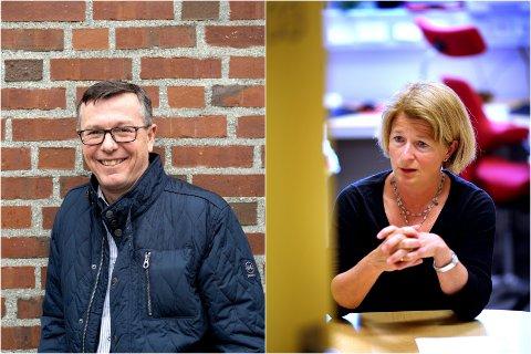 INGEN KOMMENTAR: Først skal UiB-styret diskutere innholdet i rapporten. Etter det skal vi flagge en mening om den, sier UiT-rektor Anne Husebekk. Ny UiT-rektor Dag Rune Olsen til venstre.
