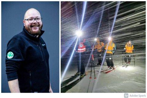 REDNINGSAKSJON: Vegard Eidissen Lindbæk forteller at det kun har vært tre redningsaksjoner i Troms så langt denne påsken