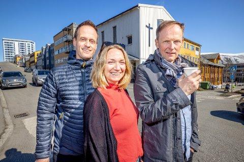 Ny fritidsklubb i Tromsø Sentrum. Bjarne Wold, Ellen Merete Drønen og Jonny Hanssen. Lene Enebakk, Konrad Hanssen, Julia Wagner, Tobias Mersland.  Foto Torgrim Rath OLsen