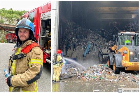 BRANN: Av typen avfallsbranner er brann i Kvitebjørn sitt enorme anlegg et av de mest omfattende.