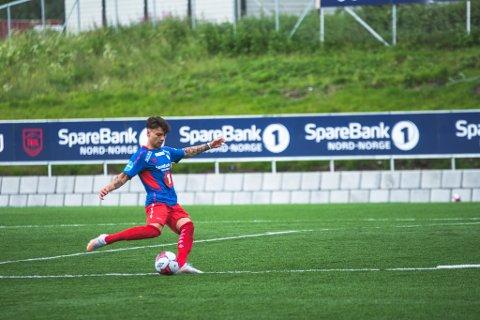 MÅLPOENG-GARANTIST: Sigurd Grønli var involvert i nok en TUIL-scoring lørdag, hans syvende målpoeng på syv kamper.