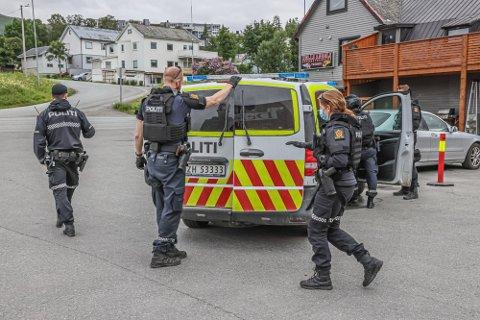"RAZZIA: Politiet ransaket Hells Angels"" lokaler i Tromsø 14. juli i år. Foto: Torgrim Rath Olsen"