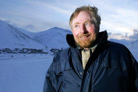 Robert Hermansen på Svalbard.
