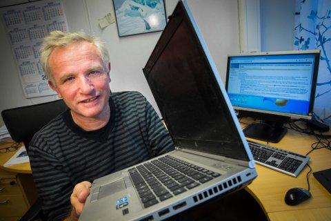 Instituttleder i atematikk og statistikk, opplevde at kriminelle tok over PC-en hans.