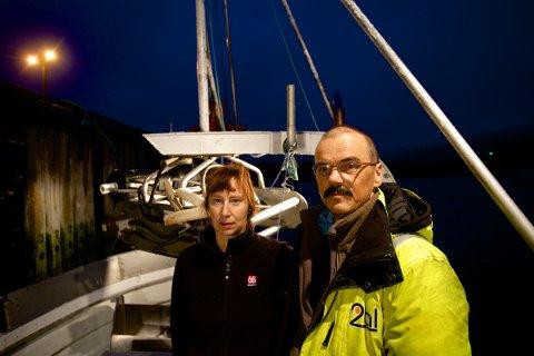 Sigrid Iversen og Trond Isaksen driver fiskeribedriften Spindaj på Spildra.