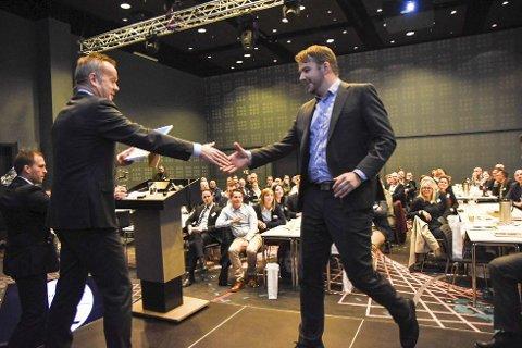 Konferanse: Prisen ble delt ut under Gasellekonferansen i Bodø fredag. Begge foto: Alexander Kjønsø Karlsen