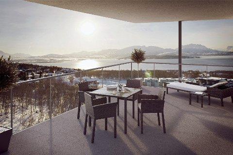 IKKE BYGGET: Toppleiligheta i Workinntoppen har lenge vært den dyreste leiligheten på markedet i Tromsø.