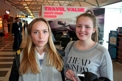 Sigrid Figenscou (15) og Ida Ørbech (14) ser frem til å kunne reise utenlands fra ny terminal.