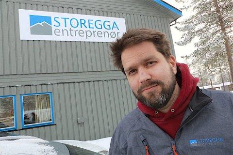 Eivind Olsen, daglig leder i Storegga Entreprenør.