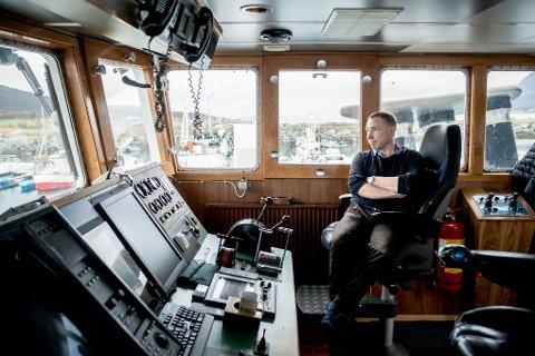 KAPTEIN PÅ EGEN BÅT: Granli startet i jobb på farens båt rett fra ungdomsskolen. Nå er han på egen kjøl.