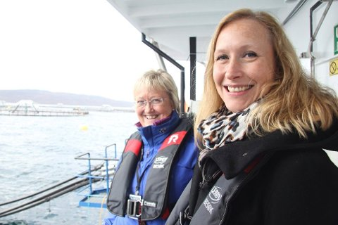 Renate Larsen, adm.dir i Norges Sjømatråd. He sammen med europaminister Elisabeth Aspaker, som nå må håndtere ESA-klagen mot rådet sammen med fiskeriminister Per Sandberg.
