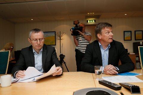 Finansdirektør Bjørn Arild Espnes og Semming Semmingsen.