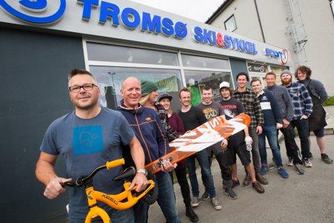 Totto Eriksen og de ansatte på Tromsø ski & sykkel
