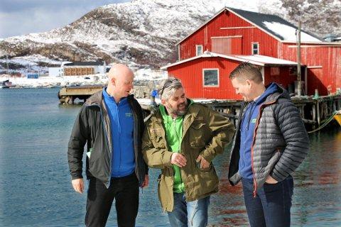 PÅ KAIA: Espen Nilssen, Kristjon Daniel Bergmundsson og Ronny Slettmo.