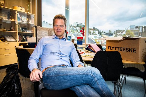 NY JOBB: Jens Johan Hjort går tilbake til sin gamle arbeidsplass Rekve Pleym. Her fra ordførerkontoret.