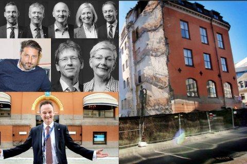 PÅ TOPP: Sparebank1 Nord-Norges direktører hadde et godt år i 2017, selv om de måtte flytte ut av hovedkontoret i påvente av at den tradisjonsrike Rødbanken skal framstå i ny prakt.