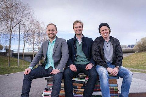 TIL TROMSØ: Gründeren Arne-Morten Willumsen (helt til venstre) og Bookis-teamet satser stort.