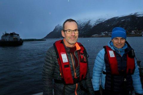 GOD LØNNSOMHET: Bengt Frode Hansen og Terje Harder Hansen kan vise til god lønnsomhet i Sjurelv Fiskeoppdrett.