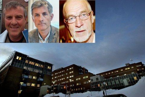REAGER: Forskerforbundet ved Olaf B. Styrvold (innfelt) reagerer på gaveprofessoratet som tor Ingebrigtsen går over. Johan Petter Barlindhaug undertegnet avtalen.