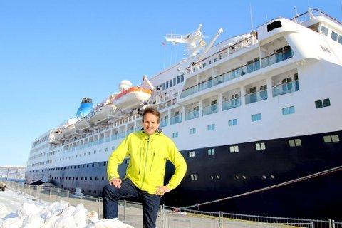 ØKER: Erik Joachimsen i Cruise Nord-Norge er overrasket over tallene for 2018.