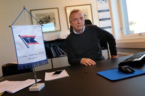 NYTT KONTOR: Torkild Torkildsen styrer Torghatten Nord i Tromsø - fra nyinnflyttede kontorlokaler i Amundsengården, rett ved den nye havneterminalen.