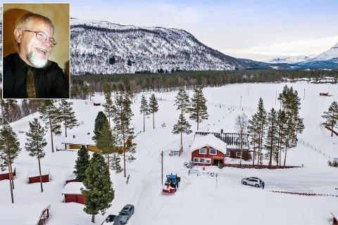SELGER:  Jan Haukland har pendlet mellom Tromsø og Bardu for å drive campingplassen. Nå mener han tida er inne for yngre krefter. Foto: Privat