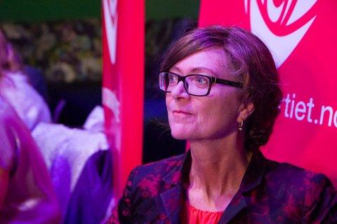 Ingrid Heggø etter valdagsmålinga val 2017
