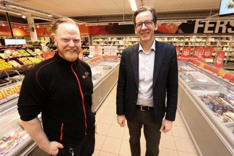 FORMIDABEL VEKST: Sylvester Willumsen er butikksjef på nye Coop Extra i Grønnegata som har vokst fra null til 70 millioner kroner i omsetning på kort tid, i fraværet av Eurospar Matservice. Den desiderte travleste tiden er i lunsjen.