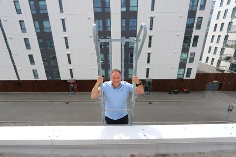 BYGGER HØYERE: De nye planene vil gjøre boligene og næringsbyggene i området enda høyere. Petter Daae er administrerende direktør i Kræmer Eiendom.