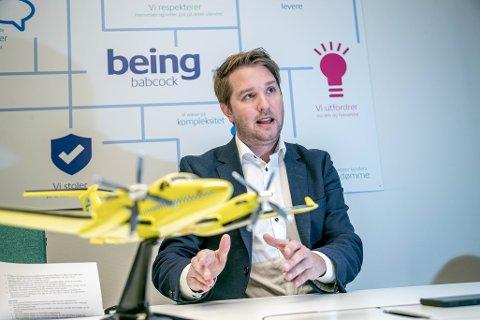 DIREØKTØR: Marius Hansen, som er toppsjef for Babcock Scandinavian AirAmbulance.